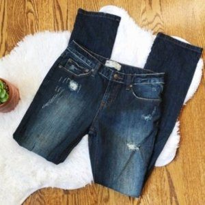 Free People Distressed Denim Skinny Jeans Size 26